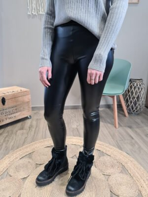 CAYENNE - LEGGING SIMILI CUIR BRILLANT