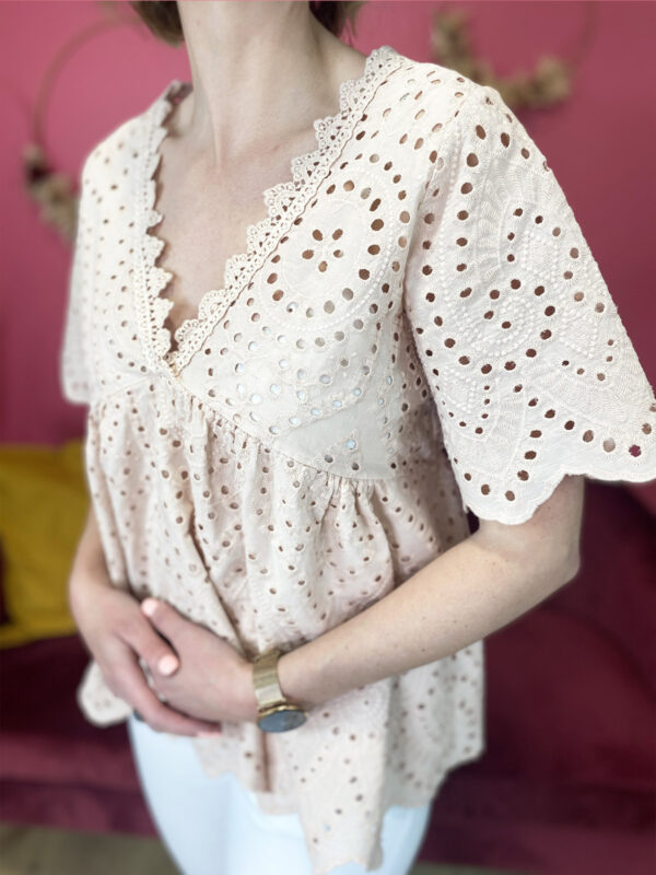 REINE - TOP BRODERIE ANGLAISE