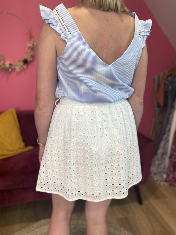 CHANTALE - JUPE SHORT BRODERIE ANGLAISE