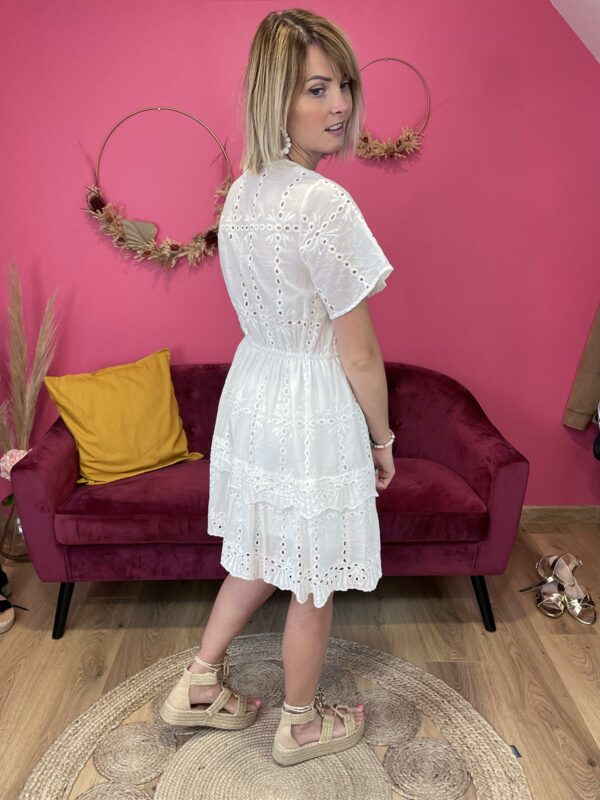 JULINE - ROBE BRODERIE ANGLAISE